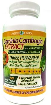 Garcinia Cambogia Extract w/Green Coffee & Decaffeinated Green Tea